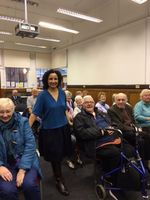 At South Yardley Library with Yardley History Society...