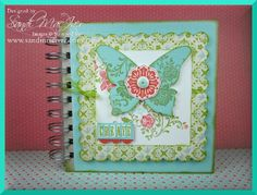 journal created with the Sale-a-bration stamp set, Fresh Vintage.