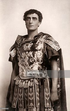 Basil Gill, English actor, in the role of Julius Caesar in 'Antony and Cleopatra', circa 1903.