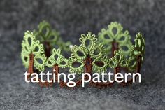 Trees edging shuttle tatting pattern in PDF by door littleblacklace
