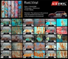 axevinyl rust vinyl rusty camouflage vinyl