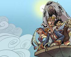 Stravagante immagine stilizzata di Monkey Island!!
