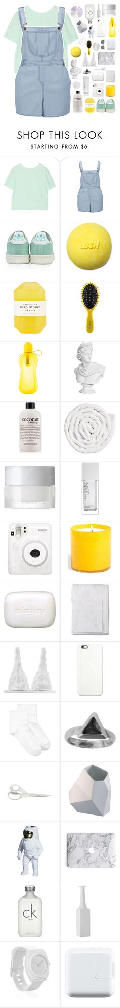 """""""a t l e e × m u s i c c h a l l e n g e"""" by when-you-listen ❤ liked on Polyvore featuring T By Alexander Wang, Influence, adidas, Pelle, Drybar, philosophy, VIPP, SUQQU, NARS Cosmetics and Fuji"""