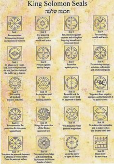 Solitary Fire Walker's Book of Shadows: King Solomon Seals