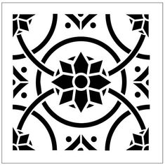 Repeat pattern stencils are a beautiful, cost-effective method of creating a custom look for your home or office. This patterned stencil can create a beautiful hand-painted wallpaper effect or floor tile design. Repeat pattern stencils are perfect for DIY beginners to create a