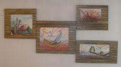 Διακοσμητικό δημιουργίας μου σε ξύλο-αντίγραφο σε ψηφιακή εκτύπωση ζωγραφικού μας έργου.-υπάρχει η δυνατότητα  διαφοροποιήσεων. Painting, Art, Art Background, Painting Art, Kunst, Paintings, Performing Arts, Painted Canvas, Drawings
