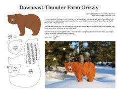 épinglé par ❃❀CM❁✿à partir de downeastthunderfarm. grizzly