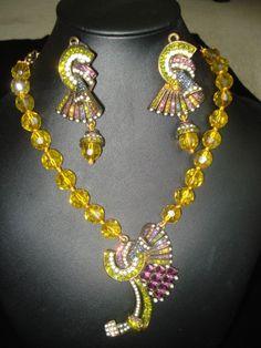 Heidi Daus Crystal Necklace Earring Set New Ebay