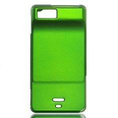 Premium Rubberized Hard Snap-on Case Cover for Motorola Droid X - Green, Verizon
