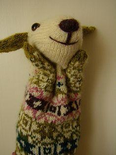 Estonian puppet hand knit from Interweave Press