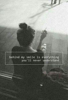 °behind that smile°