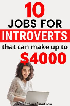 Searching for the best jobs for an introvert? Grab this list of 10 work from home jobs for introverts that pay well. Ways To Earn Money, Earn Money From Home, Earn Money Online, Online Jobs, Way To Make Money, Legit Work From Home, Legitimate Work From Home, Work From Home Jobs, Work From Home Companies