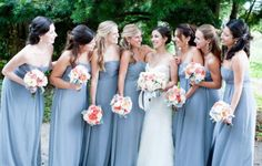 Santa Barbara Ranch Wedding from Delicate Details Fall Wedding Bridesmaids, Blue Bridesmaids, Blue Bridesmaid Dresses, Trendy Wedding, Dream Wedding, Wedding Day, Wedding Stuff, April Wedding, Wedding Roles