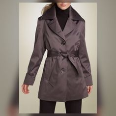 🎉*Host Pick*📸 Impermeable Platinum Trench Impermeable Platinum by Weatherproof Satin Trench. Grey.  as seen in Nordstrom. Impermeable Platinum Jackets & Coats