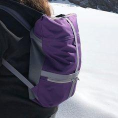 Sac à dos Troïka en toile violette cousu par Cristelle - Patron Sacôtin