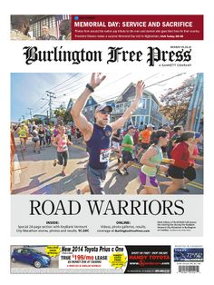 Full KeyBank Vermont City Marathon coverage in today's Burlington Free Press www.burlingtonfreepress.com