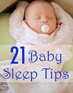 Great collection of tips to help babies sleep through the night.