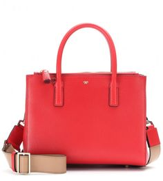 Love this: ANYA HINDMARCH Red Soft Ebury Mini Leather Tote @Lyst