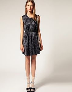 silk cotton mix dress by sophie hulme for asos