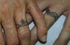 As melhores tatuagens de aliança de casamento 14