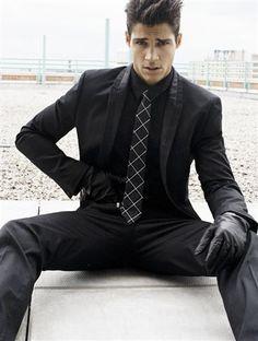 Black Gloves and Black Suit (reminds me a bit of Daft Punk)