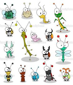Cartoon insects vector 189023 - by Bastetamon on V. - - - Cartoon insects vector 189023 – by Bastetamon on V… – Bella Cartoon Insekten Vektor 189023 – von Bastetamon auf V … – # Bastetamon Cartoon Faces, Cartoon Drawings, Animal Drawings, Doodle Drawings, Easy Drawings, Doodle Art, Happy Paintings, Rock Art, Art Lessons