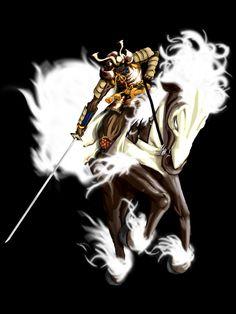 samurai on a horse