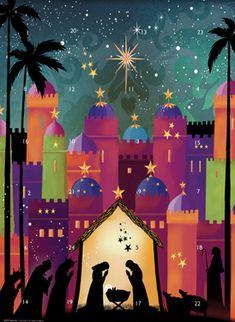 Nativity Silhouette Advent Calendar | New Religious | Vermont Christmas Co. VT Holiday Gift Shop