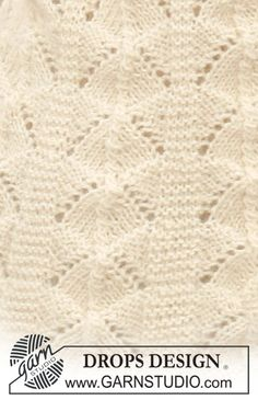 Ravelry: Frilly Julliet pattern by DROPS design Baby Knitting Patterns, Knitting Stitches, Free Knitting, Embroidery Stitches, Stitch Patterns, Drops Design, Magazine Drops, Knitted Blankets, Knit Crochet