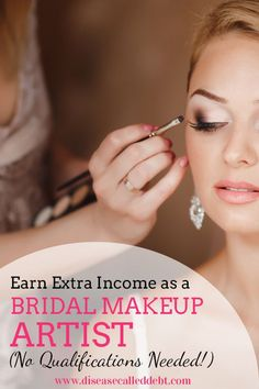 Find out how to become a bridal makeup artist! It's a great way to earn extra income on the side and no formal qualifications are required… The post Become a Bridal Makeup Artist: Earn Extra Income appeared first on Woman Casual - Makeup Recipes Makeup Artist Resume, Makeup Artist Tattoo, Makeup Artist Tips, Freelance Makeup Artist, Wedding Makeup Artist, Professional Makeup Artist, Bride Makeup, Makeup Tools, Makeup Artistry