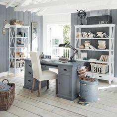 Bureau 1 porte 4 tiroirs blanc | Bureaus, Newport and Paint furniture