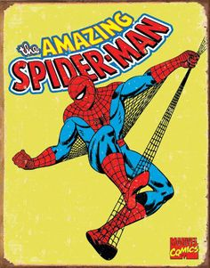 Tin Sign Spiderman - Retro.: Amazon.co.uk: Sports  Outdoors