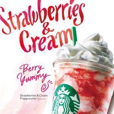 ストロベリー クリーム フラペチーノ®|スターバックス コーヒー ジャパン
