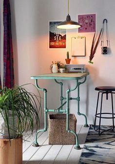 industrial style tisch diy ideen update: für die couch, bett und ... - Wohnzimmer Im Retro Look