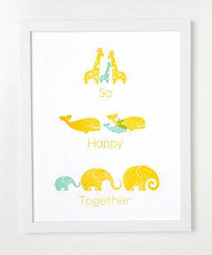 So Happy Together baby animal and family print