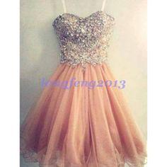 Rhinestone Prom Dress, Beautiful Girls Prom Dress / Homecoming Dress...