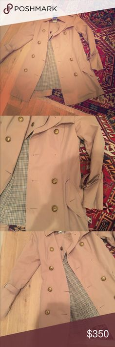 Burberry Blue Label convertible trench - awesome! Amazing Burberry Blue Label convertible trench coat (changes wear style with different buttons). Bought in Tokyo at a Burberry store 3 years ago and worn only a handful of times. Fits like an American 4/6. Missing one button on inside button panel; not noticeable, but price discount reflects missing button. Amazing chance for a designer item at a great price!! Burberry Jackets & Coats Trench Coats