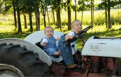 tractors + lil boys = awesome pictures