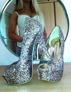 Sparkly heels #platform,  #sparkly -  thick,  #heels