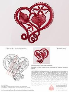 may need to just copy and paste into word to get patterns Filet Crochet, Irish Crochet, Crochet Lace, Crochet Motif Patterns, Bobbin Lace Patterns, Bobbin Lacemaking, Types Of Lace, Lace Heart, Point Lace