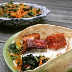 Fiskefajitas og lun grønnkålsalat Tacos, Pork, Mexican, Meat, Ethnic Recipes, Kale Stir Fry, Pork Chops, Mexicans
