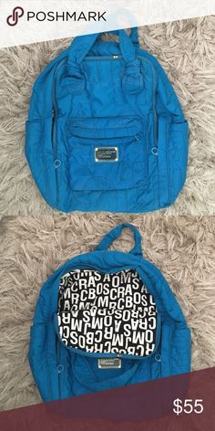Marc Jacobs blue backpack Blue/ teal backpack with gold grommet and zipper, Marc by Marc jacobs workwear Marc by Marc Jacobs Bags Backpacks