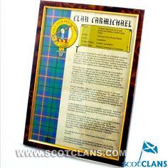 Carmichael Clan History Print