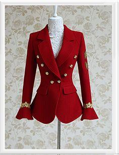 Red Flare Sleeve Designer Jacket Coat - Morpheus Boutique