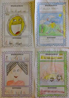 PY 4&5 Uke 19: Elevene har startet å illustrere forskjellige språklige bilder og uttrykk som vi skal sette sammen til klassebok. En enkel, men veldig morsom og lærerik aktivitet:)