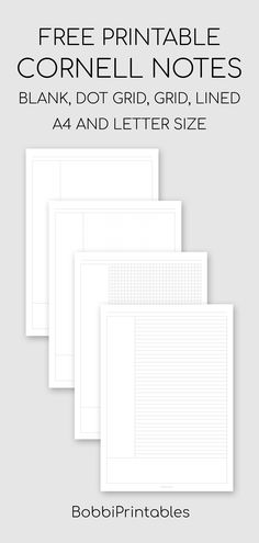 Free printable Cornell Notes template for effective note-taking, available in and letter sizes. Choose from blank, dot grid, square gr. College Note Taking, College Notes, School Notes, Templates Printable Free, Printable Worksheets, Printables, Free Printable Planner, To Do Planner, Study Planner