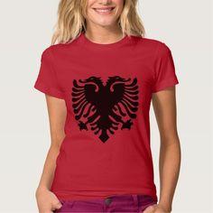 ALBANIAN EAGLE BLACK T-SHIRTS