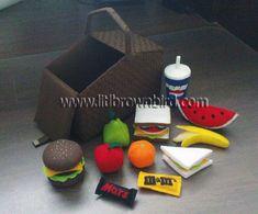 Free Felt Picnic Basket and Food Patterns