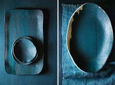 Vajilla cerámica con formas orgánicas