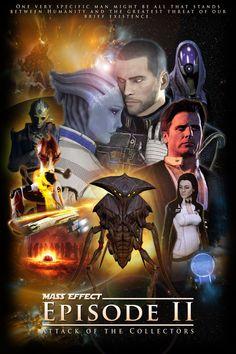 Mass Effect episode 2 Star Wars style poster Mass Effect Games, Mass Effect 1, Mass Effect Universe, Epic Games, Best Games, Cool Stuff, Mass Effect Romance, Mundo Dos Games, Commander Shepard